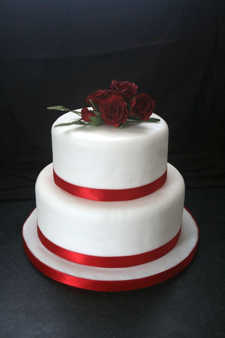 Simple Two Tier Wedding Cakes  simple 2 tier wedding cake Wedding ideas