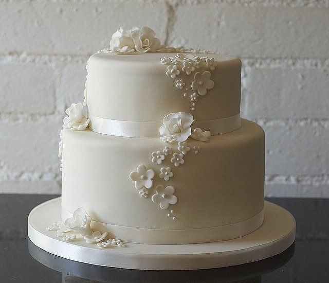 Simple Two Tier Wedding Cakes  Two Tier Buttercream Wedding Cakes