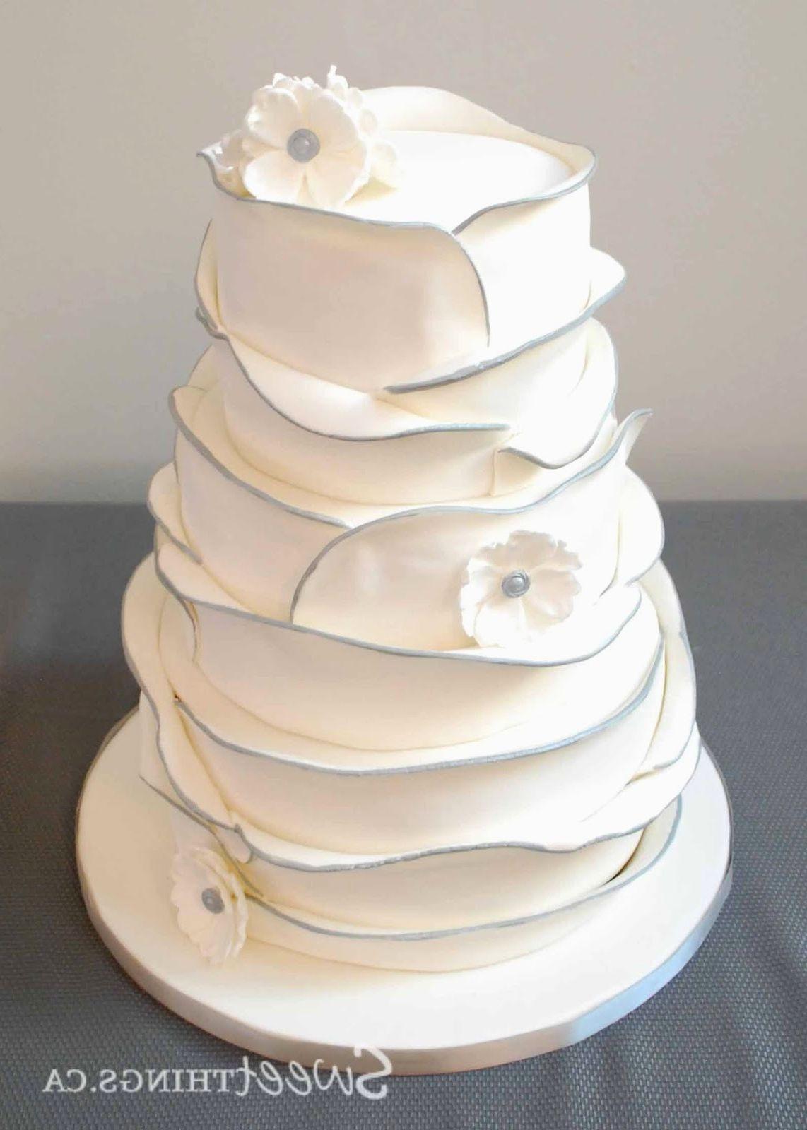Simple Two Tier Wedding Cakes  Simple 2 tier wedding cake designs idea in 2017