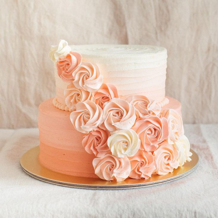 Simple Two Tier Wedding Cakes  9 Cakes 2 Layer Simple Summer Summer Layer Cake
