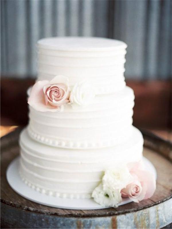 Simple Wedding Cakes Design  40 Elegant and Simple White Wedding Cakes Ideas