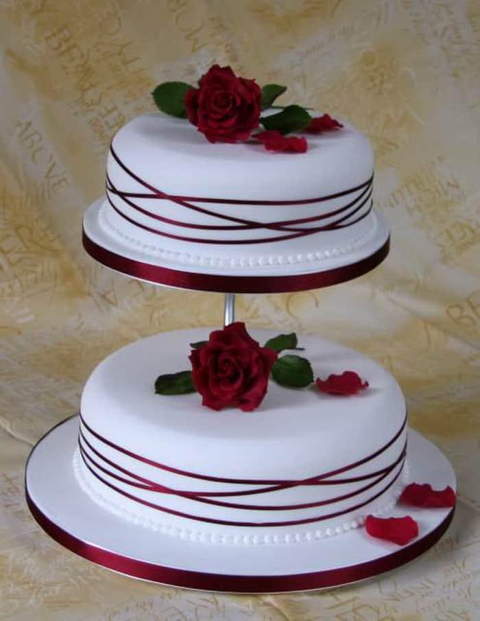Simple Wedding Cakes Design  Top 33 Fantastic Henna Wedding Cake Designs – SheIdeas