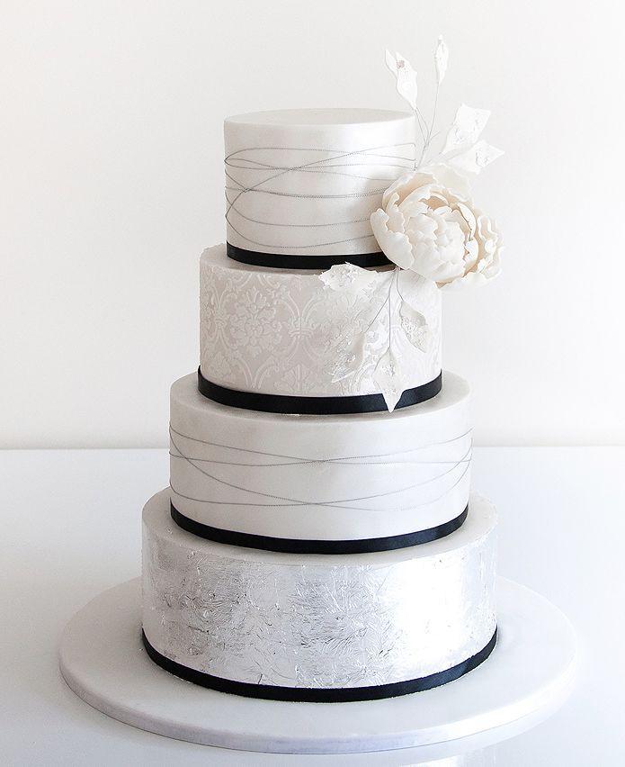 Simple Wedding Cakes Ideas  49 Amazing Black and White Wedding Cakes