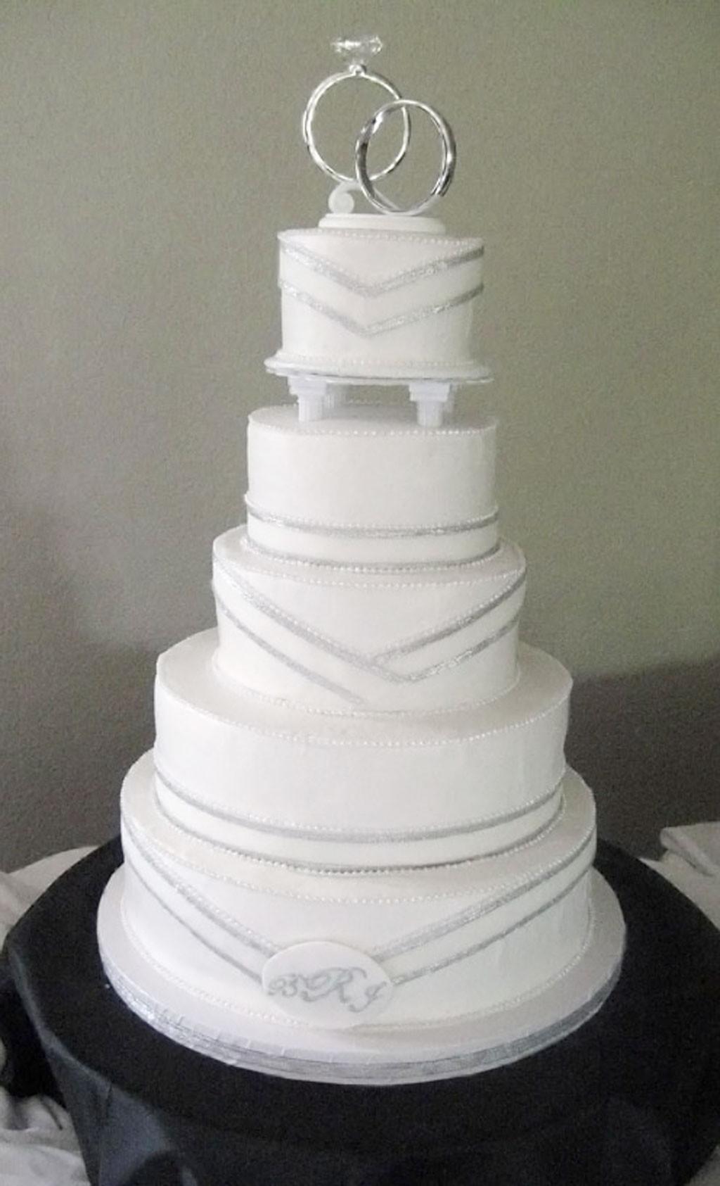Simple Wedding Cakes Ideas  Simple Silver Wedding Cakes Wedding Cake Cake Ideas by