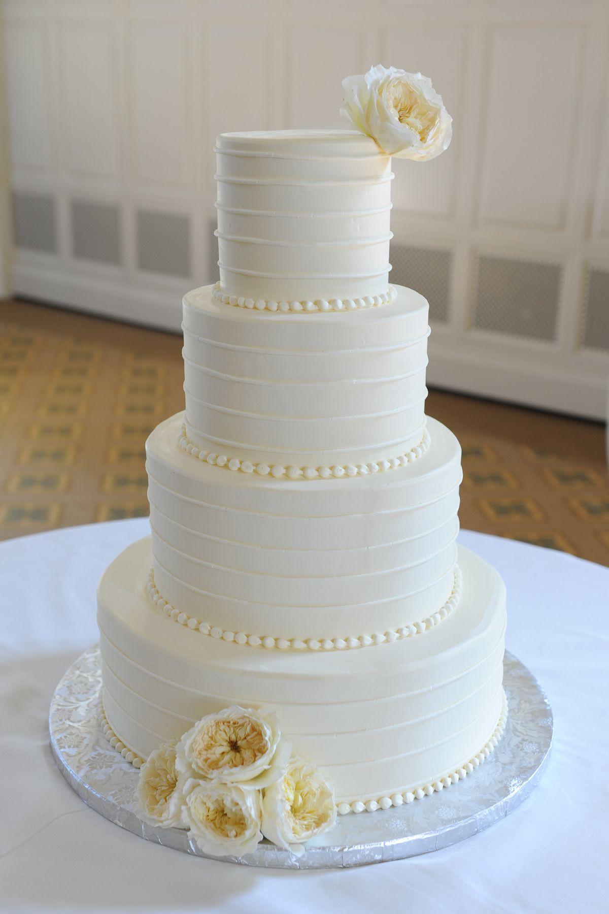 Simple Wedding Cakes Pinterest  Simple White Wedding Cake Tying the knot