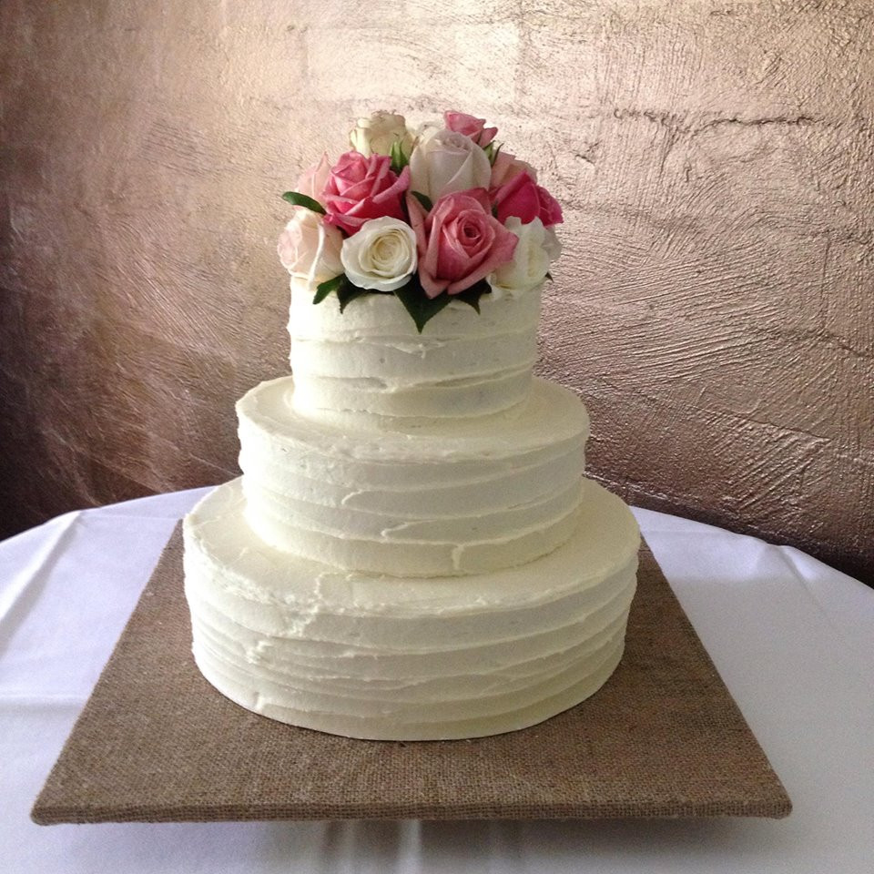 Simple Wedding Cakes With Flowers  Luxury Wedding Cake Flowers Simple 52 For Your Wedding