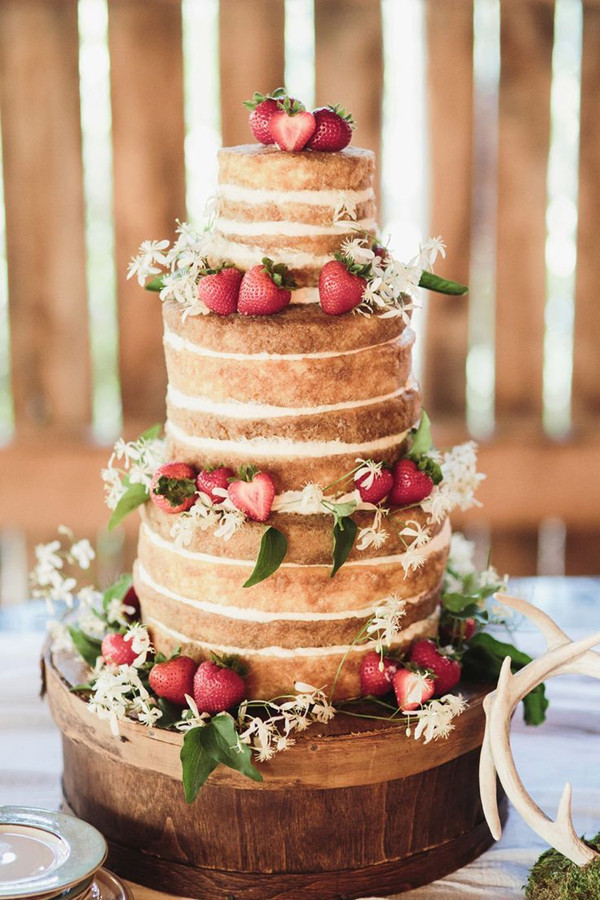 Simple Wedding Cakes Without Fondant  Rustic Wedding Cakes 15 Chic Inspirations with Unrefined