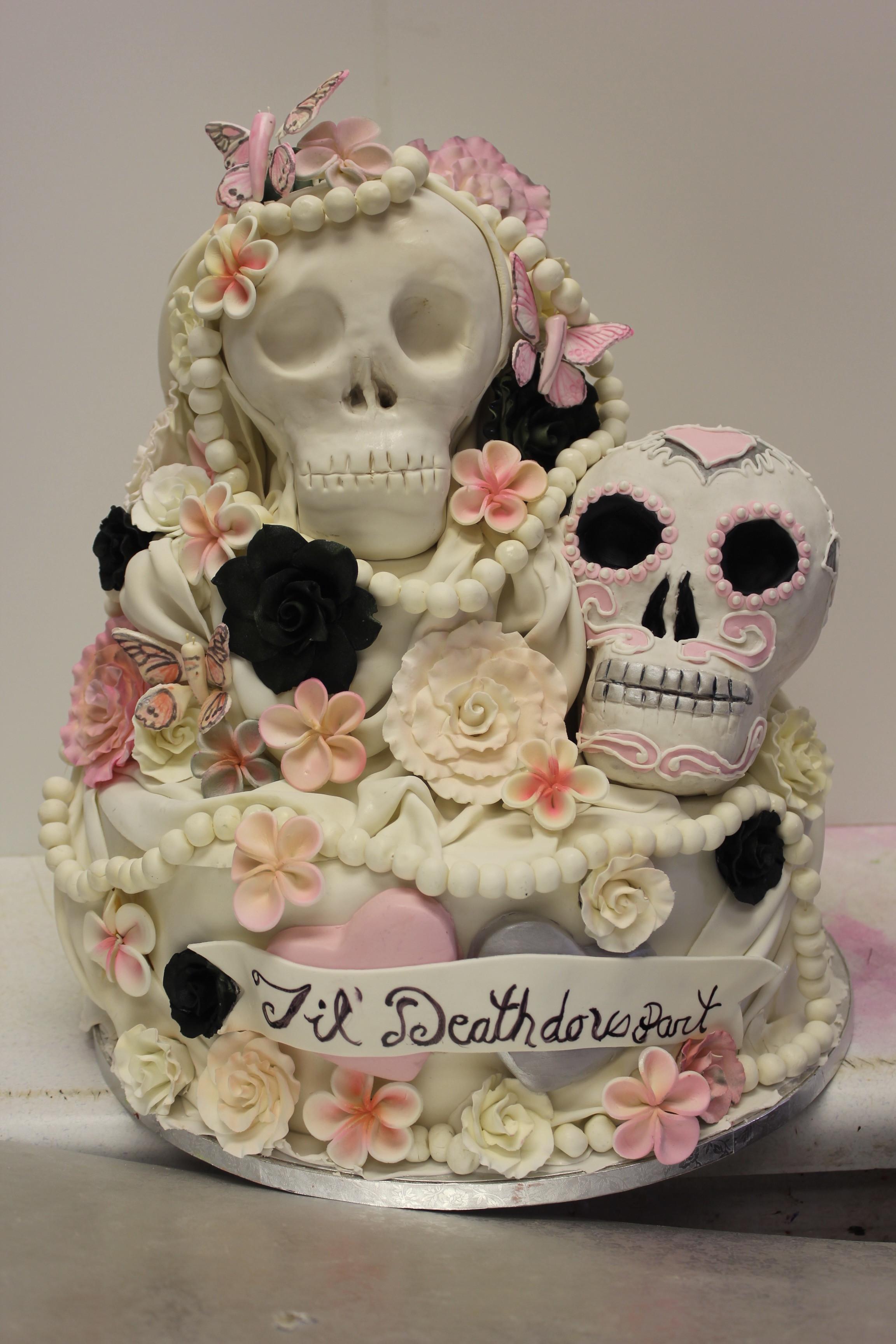 Skull Wedding Cakes  Sugar skull Wedding Cake