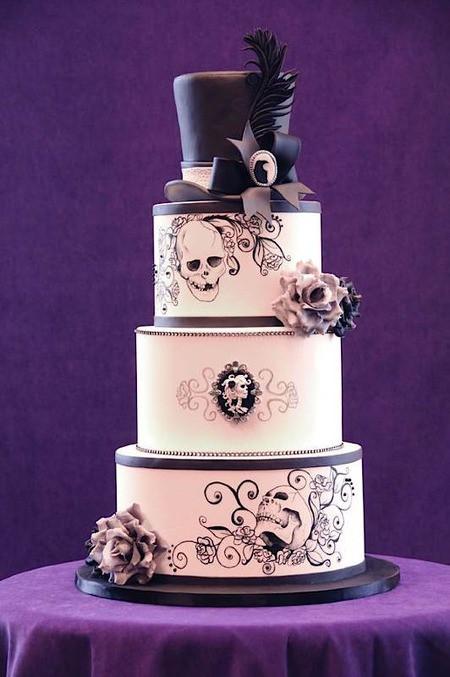 Skull Wedding Cakes  Cake Wrecks Home Sunday Sweets Gothic Elegance