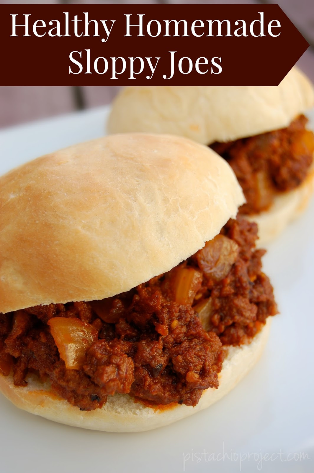 Sloppy Joes Healthy  Healthy Homemade Sloppy Joes The Pistachio Project