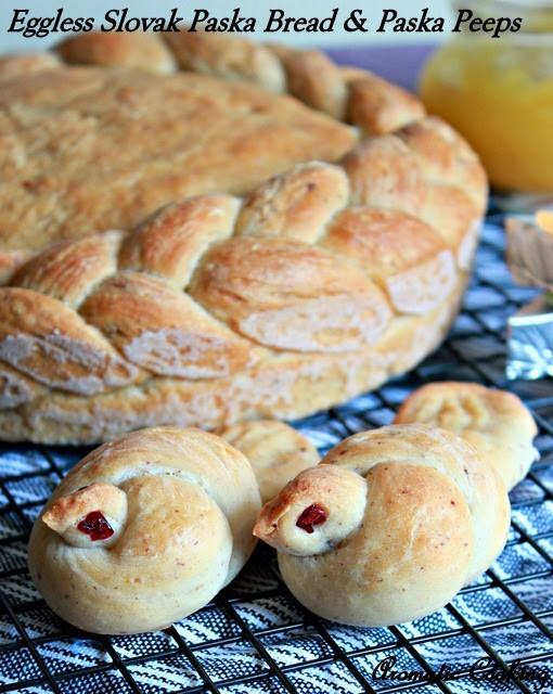 Slovak Easter Bread  Aromatic Cooking Eggless Slovak Paska Bread And Paska Peeps