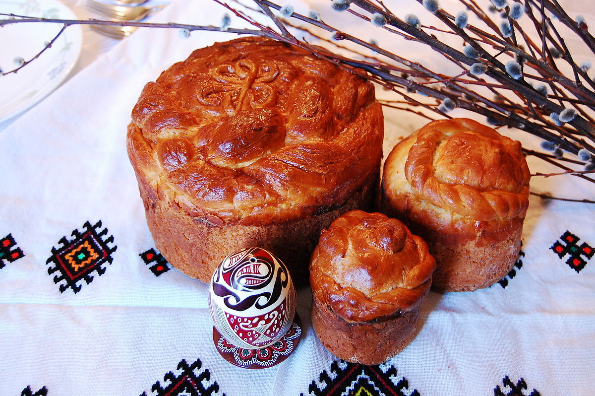 Slovak Easter Bread  Paska bread
