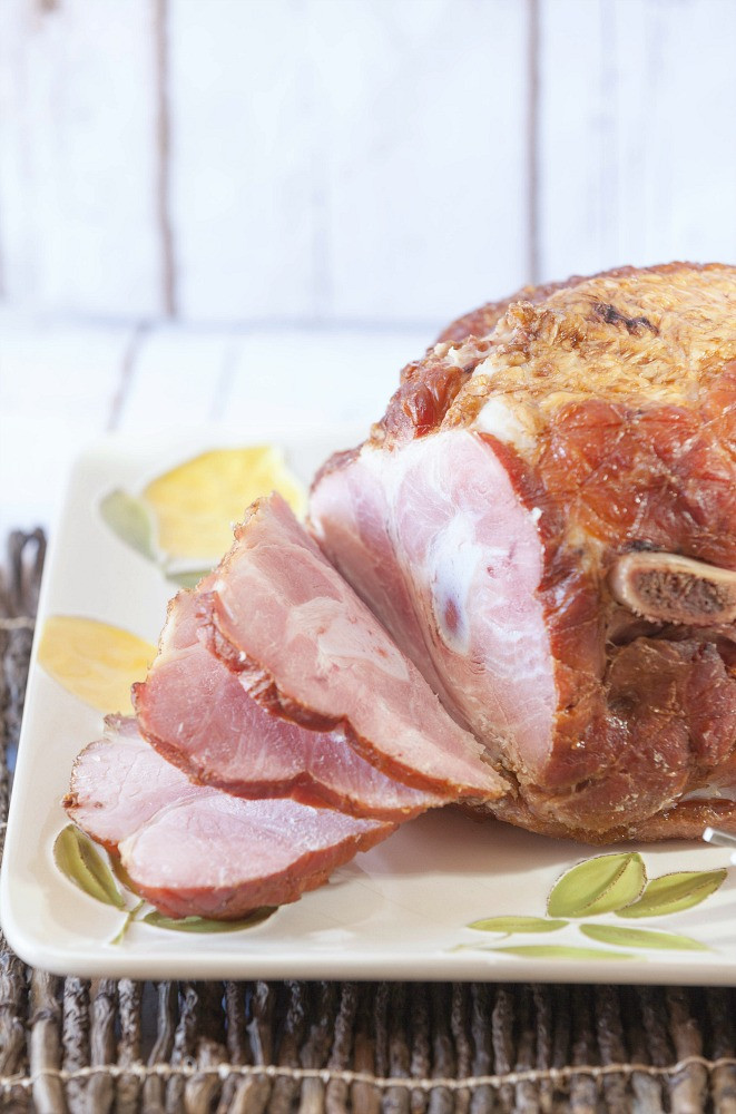 Slow Cooked Easter Ham  Slow Cooker Spiral Ham with Homemade Teriyaki Sauce Food