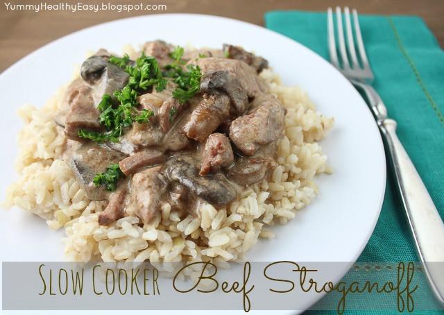 Slow Cooker Beef Stroganoff Healthy  Slow Cooker Beef Stroganoff Yummy Healthy Easy