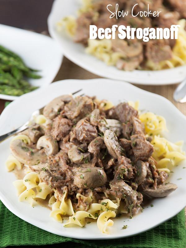 Slow Cooker Beef Stroganoff Healthy  Slow Cooker Beef Stroganoff Recipe