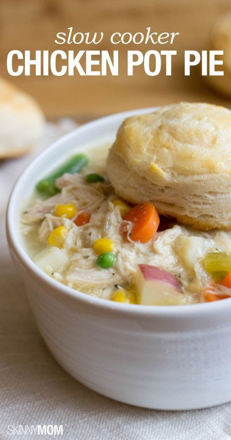 Slow Cooker Chicken Pot Pie Healthy  100 Easy Healthy Recipes on Pinterest