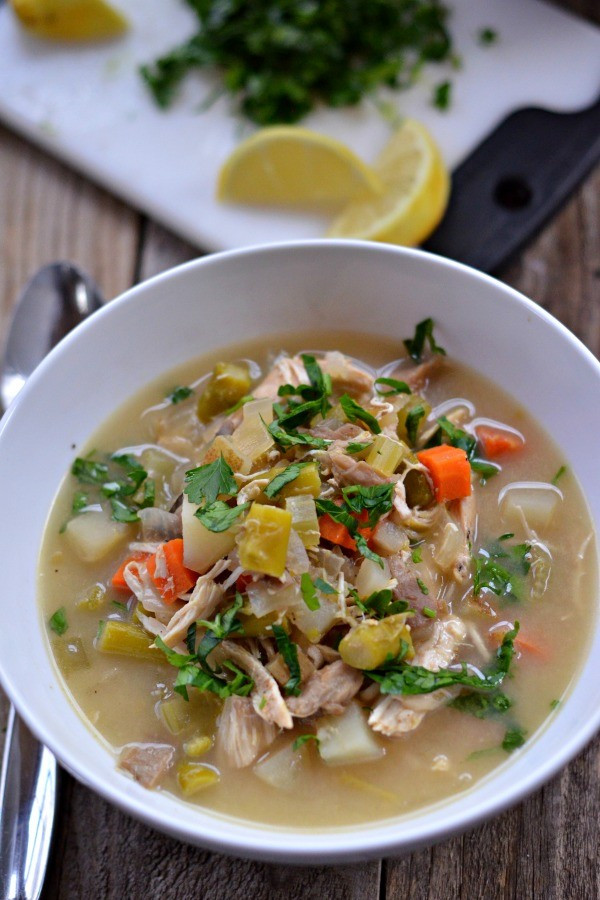 Slow Cooker Chicken Pot Pie Healthy  Slow Cooker Chicken Pot Pie Soup Mountain Mama Cooks