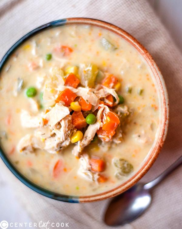 Slow Cooker Chicken Pot Pie Healthy  Slow Cooker Healthy Chicken Pot Pie Stew Recipe
