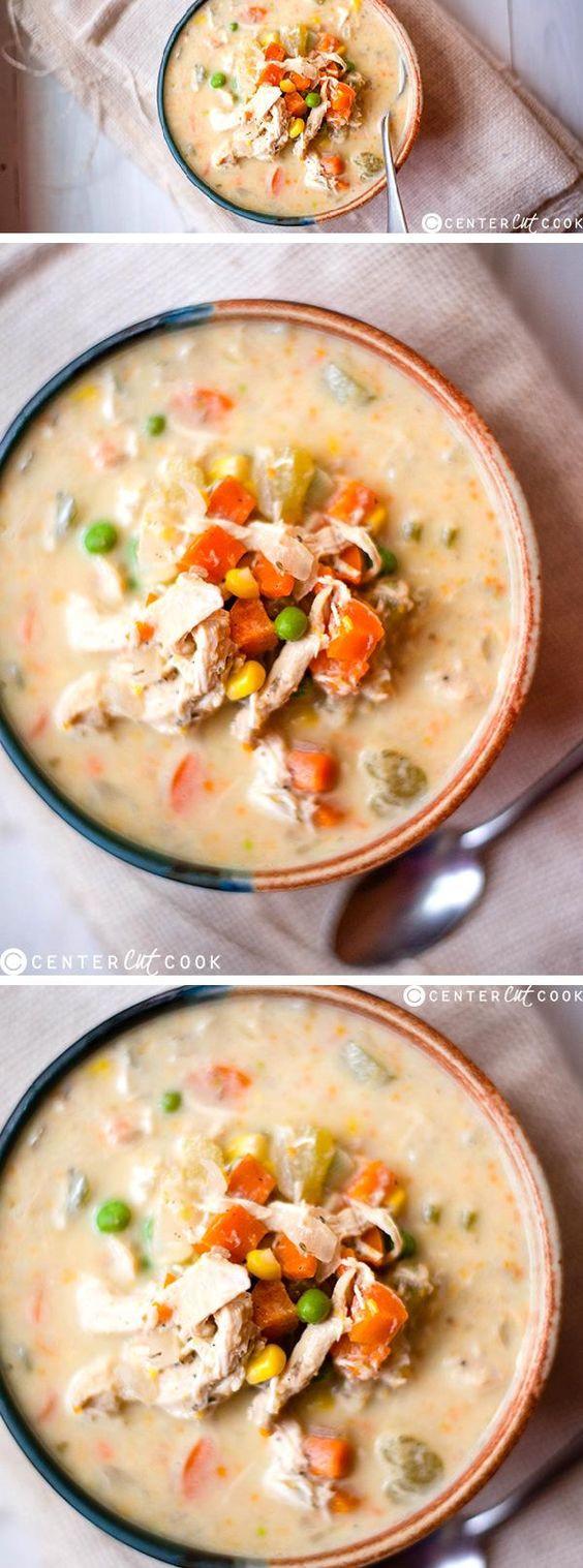 Slow Cooker Chicken Pot Pie Healthy  Slow Cooker Healthy Chicken Pot Pie Stew