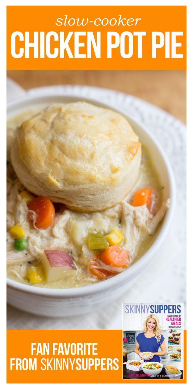 Slow Cooker Chicken Pot Pie Healthy  Slow Cooker Chicken Pot Pie Recipe