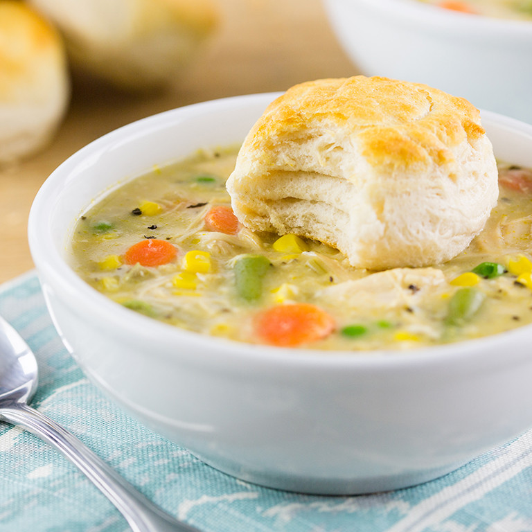 Slow Cooker Chicken Pot Pie Healthy  Skinny Suppers Cookbook Skinny Mom