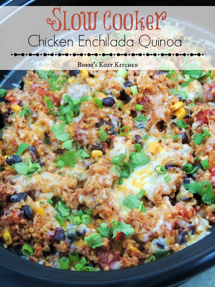 Slow Cooker Chicken Recipes Healthy  Slow Cooker Chicken Enchilada Quinoa