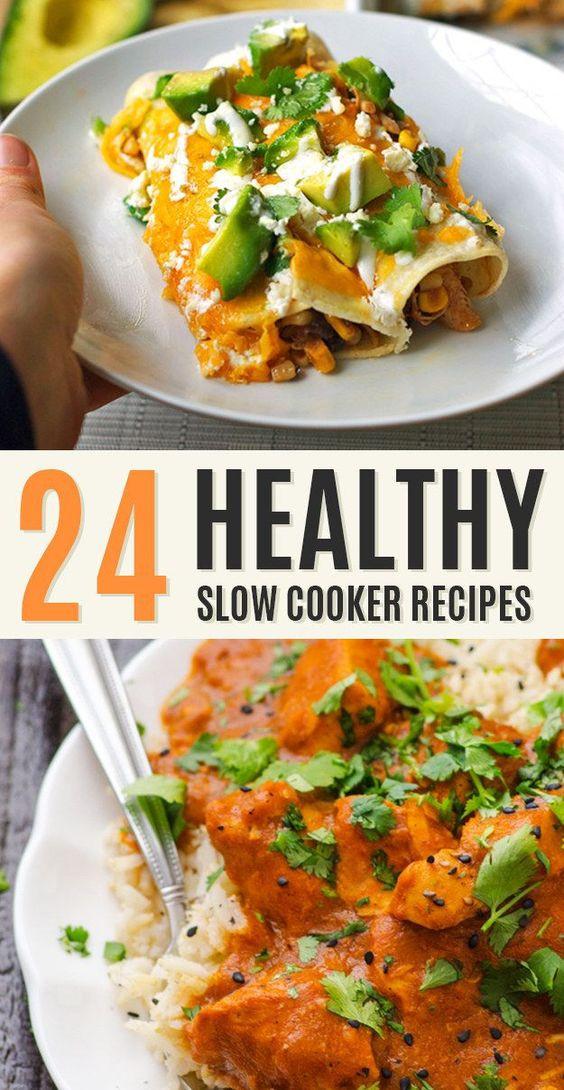 Slow Cooker Chicken Recipes Healthy  Healthy crockpot recipes Slow cooker chicken and Chicken