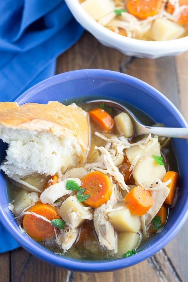 Slow Cooker Chicken Stew Recipes Healthy  Slow Cooker Maple Chicken Stew Kristine s Kitchen