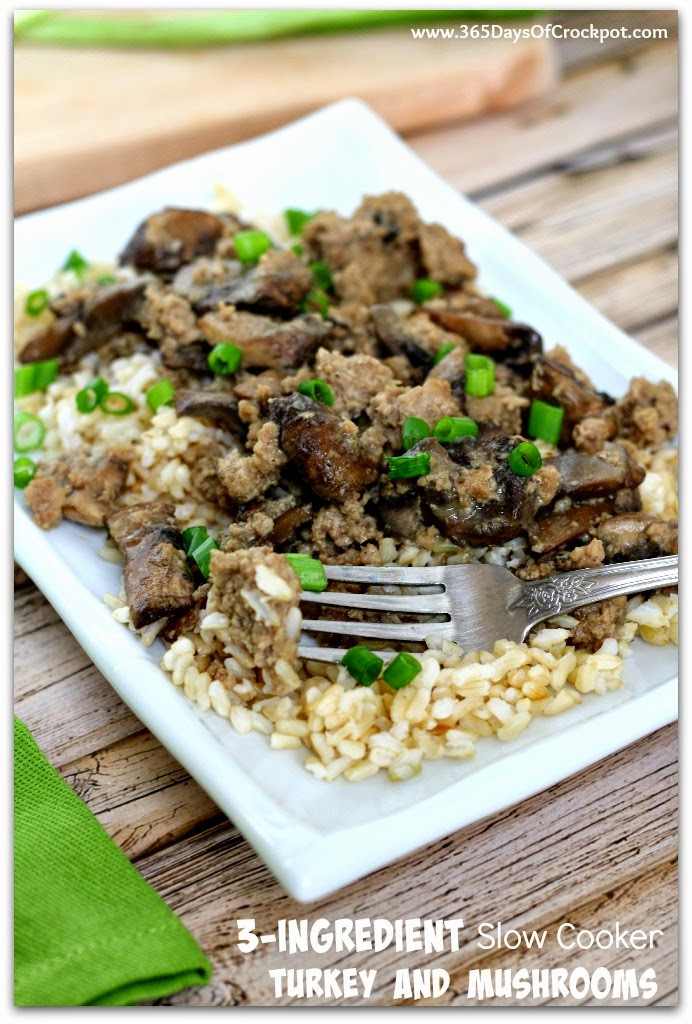 Slow Cooker Ground Beef Recipes Healthy  3 Ingre nt Slow Cooker Ground Turkey and Mushrooms So