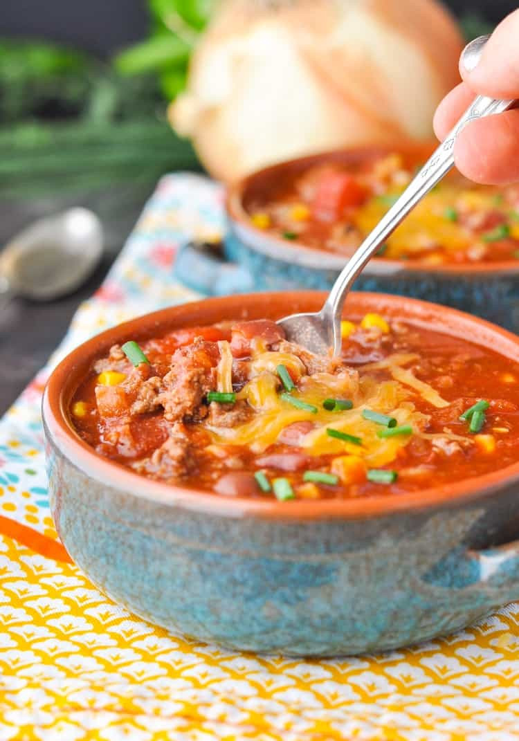 Slow Cooker Ground Beef Recipes Healthy  Healthy Slow Cooker Chili The Seasoned Mom