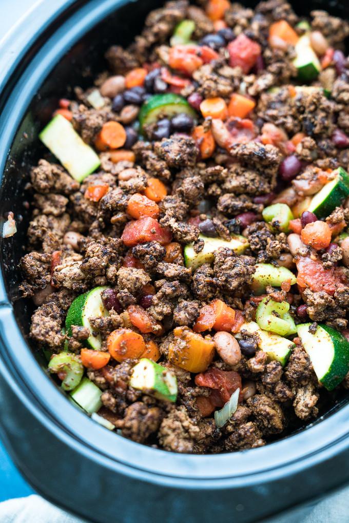 Slow Cooker Ground Turkey Recipes Healthy  healthy ground turkey chili