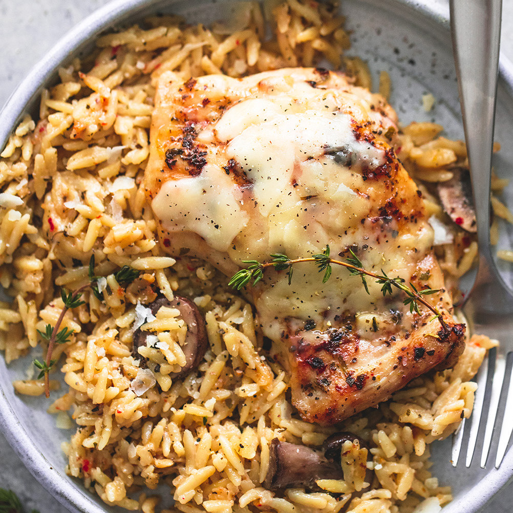 Slow Cooker Healthy Chicken Recipes  Slow Cooker Parmesan Herb Chicken & Orzo Creme De La Crumb