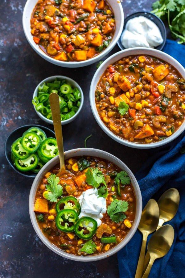Slow Cooker Sweet Potato Recipes Healthy  Slow Cooker Sweet Potato Lentil Chili