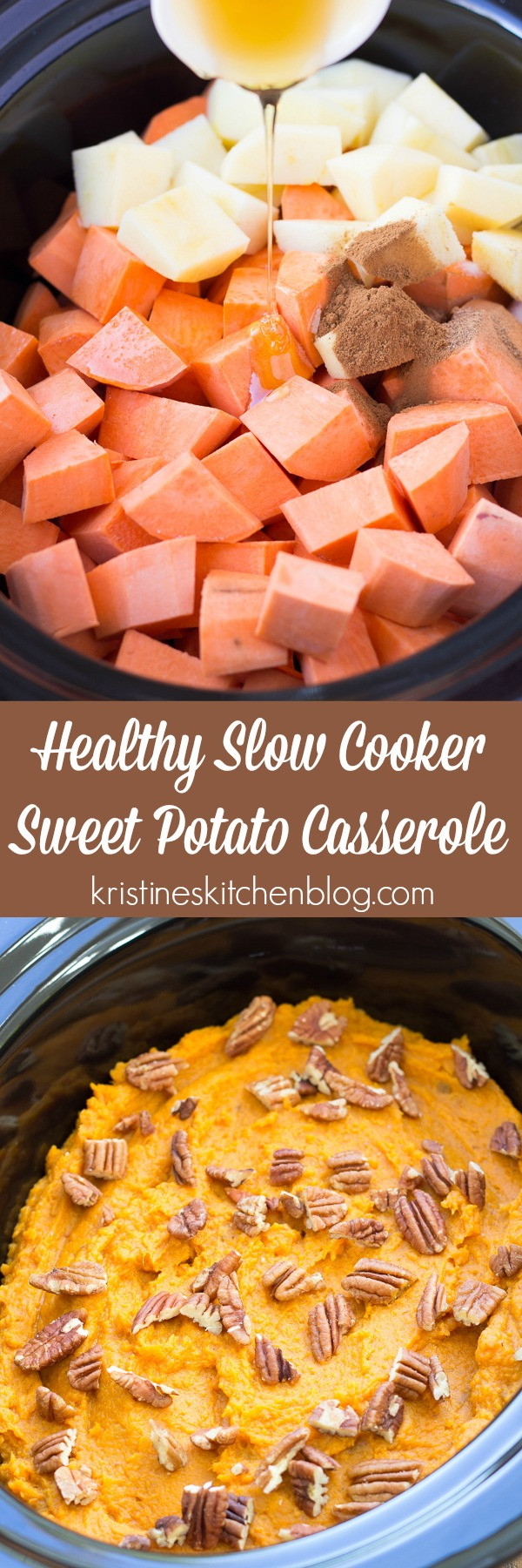 Slow Cooker Sweet Potato Recipes Healthy  Healthy Slow Cooker Sweet Potato Casserole Kristine s