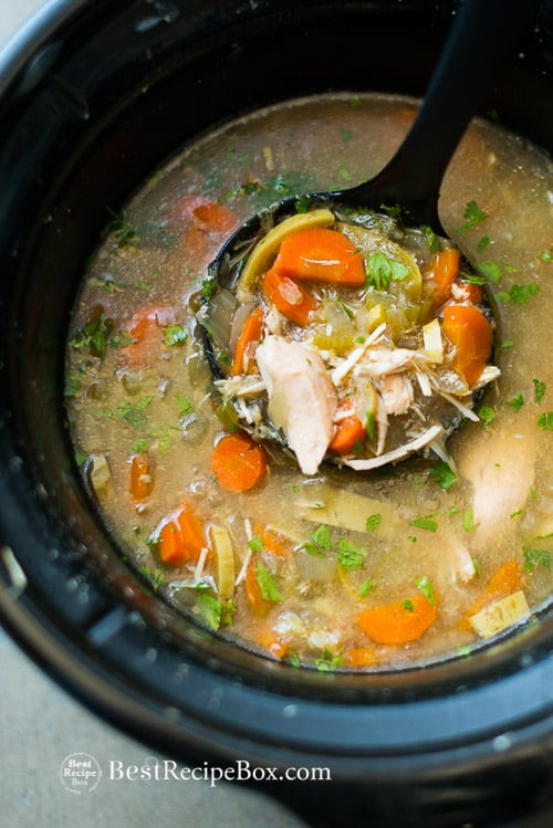 Slow Cooker Vegetable Soup Recipes Healthy  Favorite Slow Cooker Chicken Ve able Soup Recipe that s