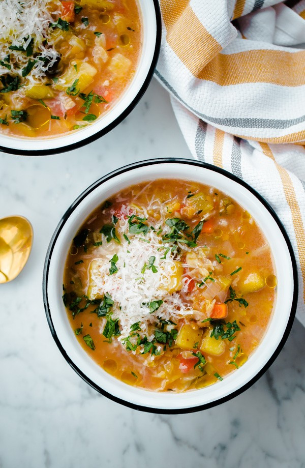 Slow Cooker Vegetable Soup Recipes Healthy  Slow Cooker Winter Ve able Soup with Split Red Lentils