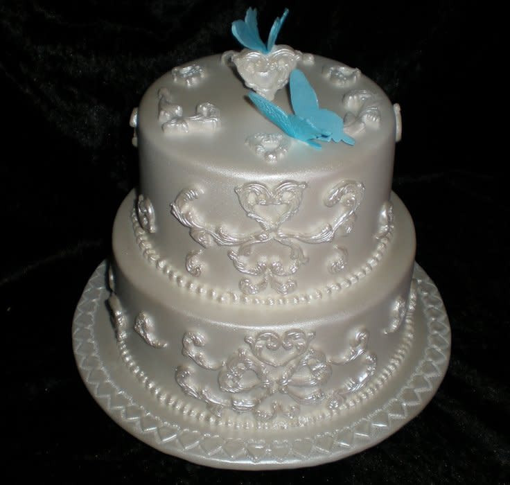 Small 2 Tier Wedding Cakes  Small 2 tier Wedding Cake Cake by Sugarart Cakes