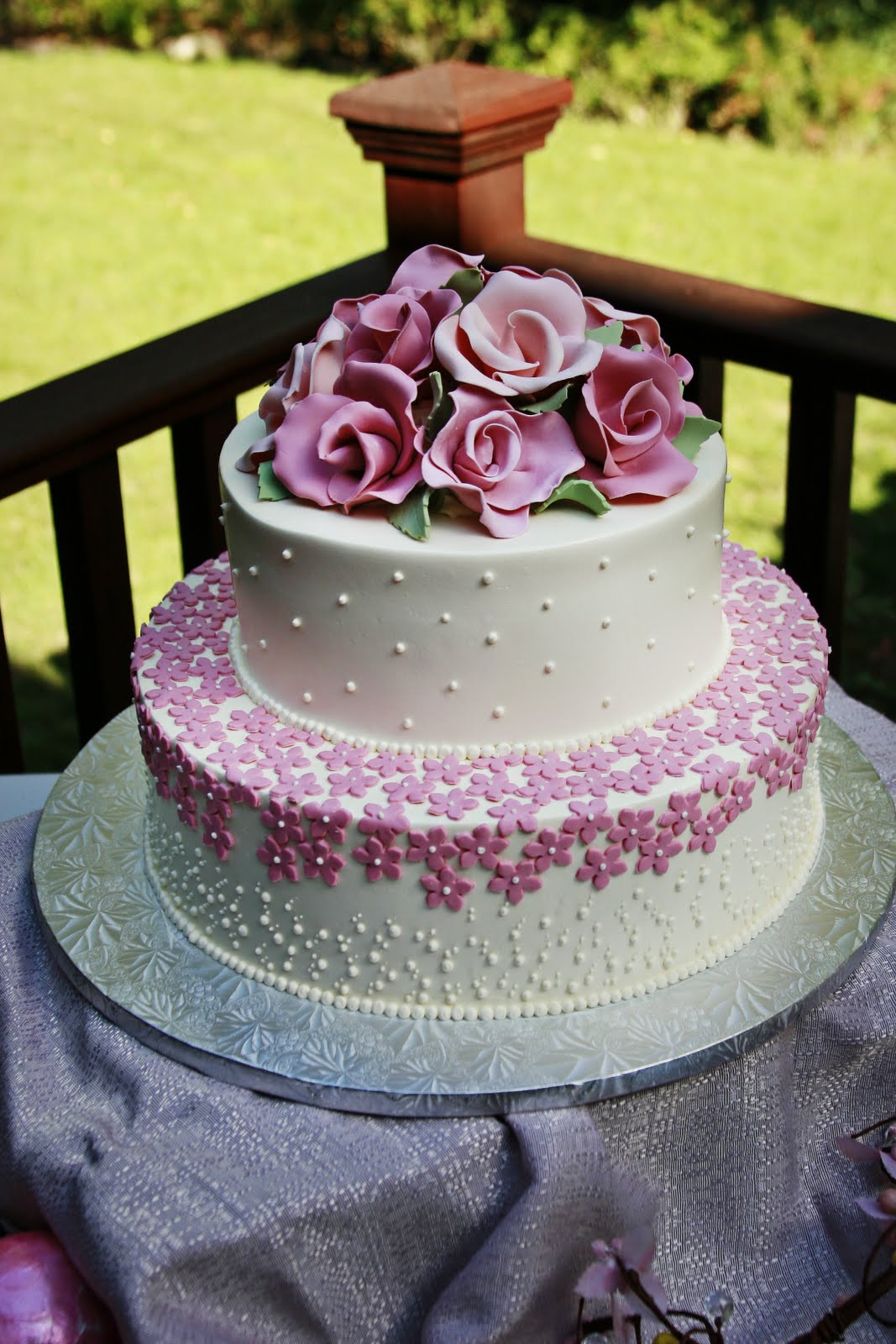 Small 2 Tier Wedding Cakes  Dessert Works Bakery Two Tier