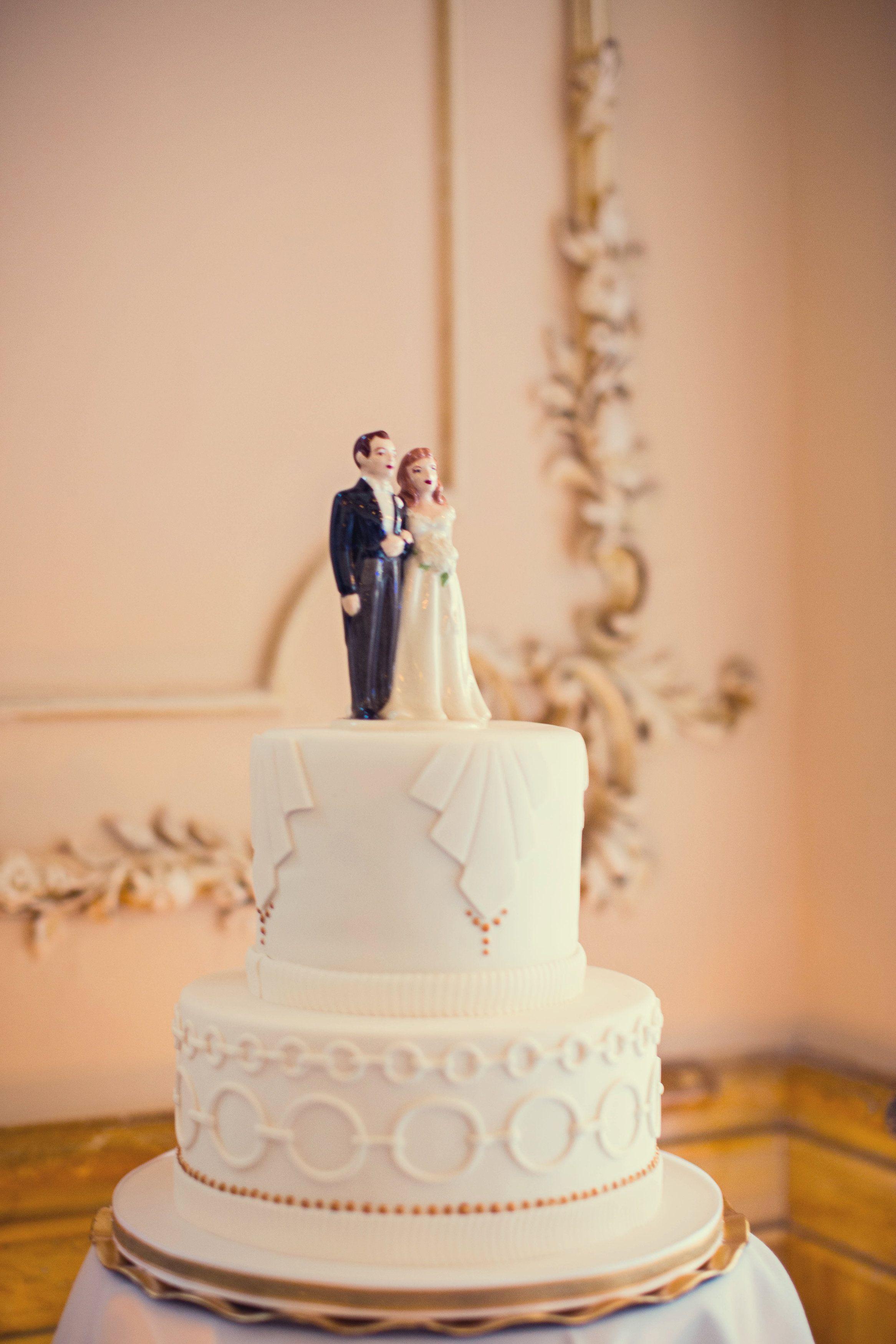 Small 2 Tier Wedding Cakes  small wedding cake art deco wedding cake white wedding
