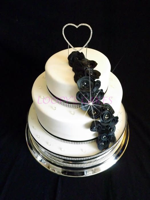Small 2 Tier Wedding Cakes  Small 2 tier wedding cake Cake by Loopy CakesDecor