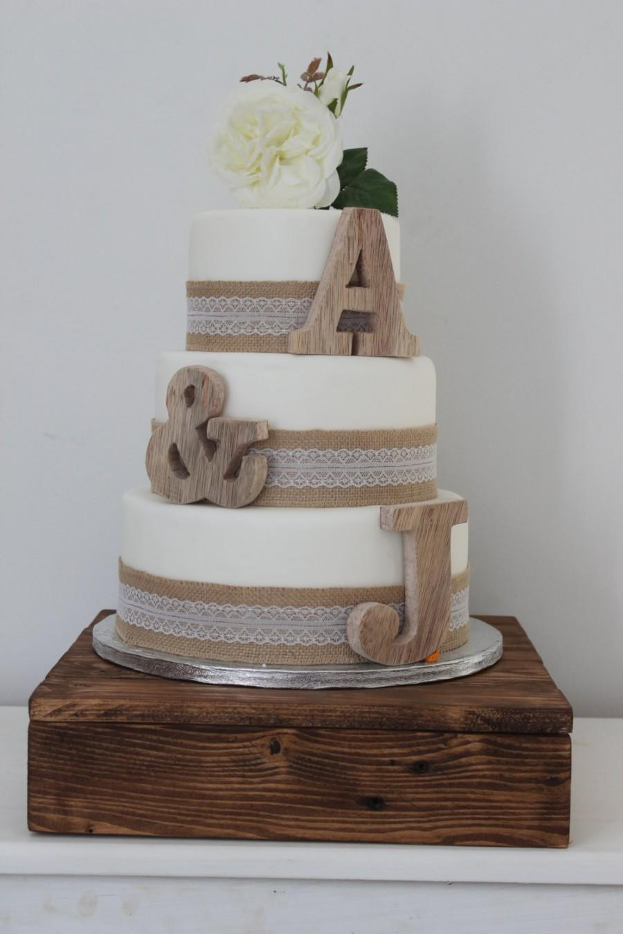 Small Rustic Wedding Cakes  Rustic Wedding Cake Toppers Personalised Cake Toppers
