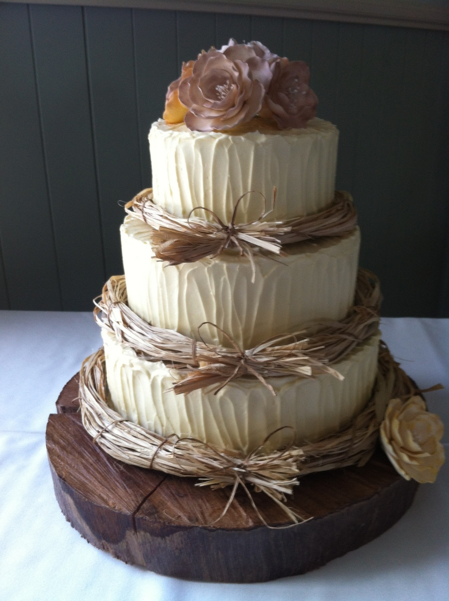 Small Rustic Wedding Cakes  Rustic Wedding Cake CakeCentral