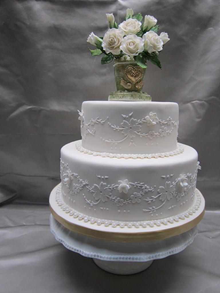 Small Two Tier Wedding Cakes  Custom Wedding Cakes in Hamilton Burlington Oakville