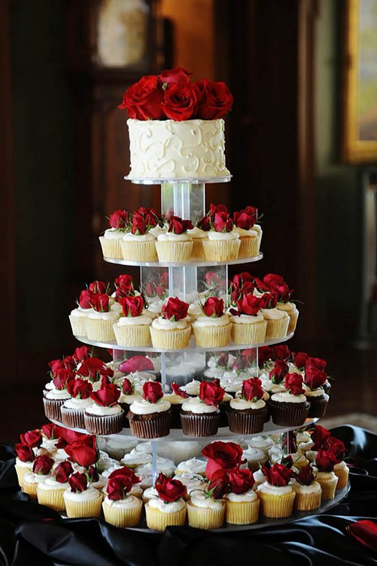 Small Wedding Cakes With Cupcakes  100 Ideas about Beautiful Wedding Cupcakes