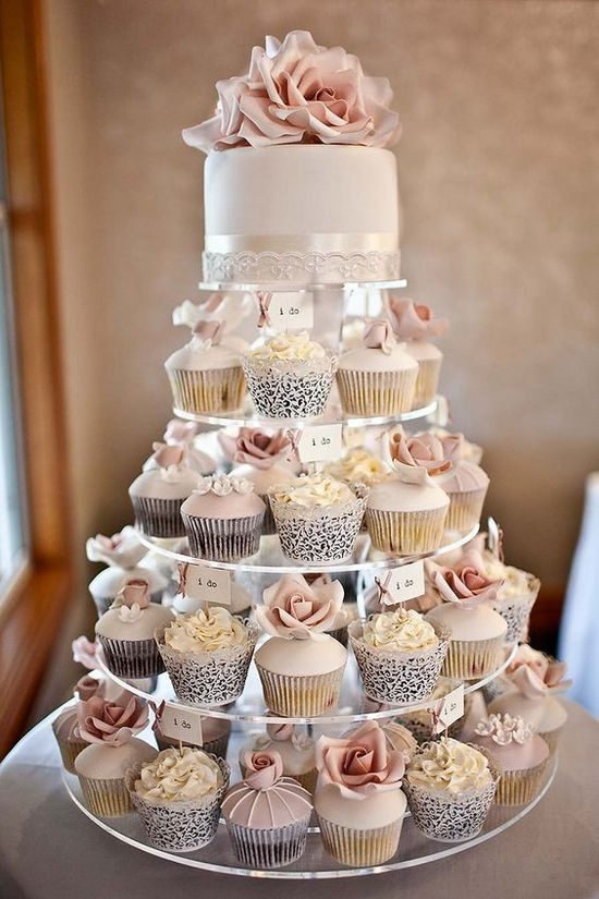 Small Wedding Cakes with Cupcakes 20 Of the Best Ideas for 25 Delicious Wedding Cupcakes Ideas We Love