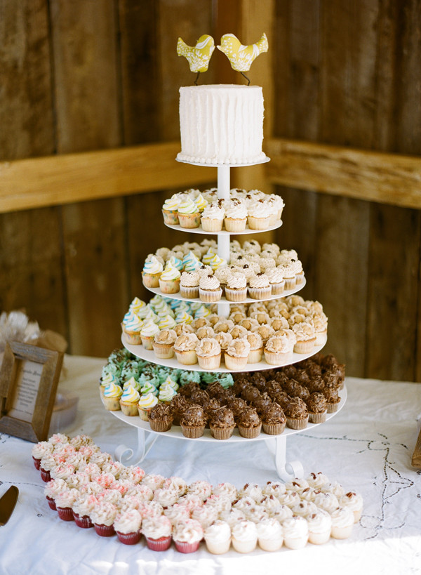 Small Wedding Cakes With Cupcakes  Southern wedding cupcake wedding cake