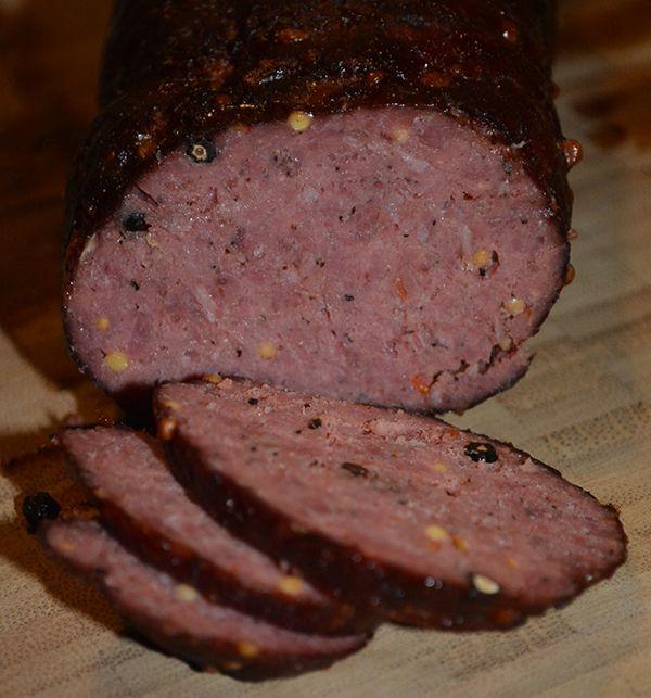 Smoked Beef Summer Sausage Recipe  venison summer sausage recipes for smoker