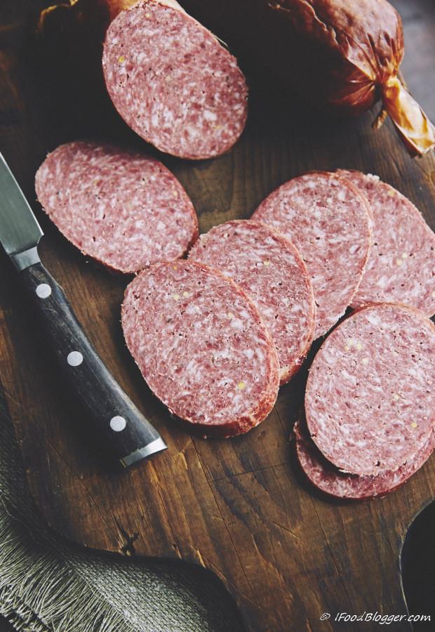 Smoked Beef Summer Sausage Recipe  masterbuilt electric smoker summer sausage