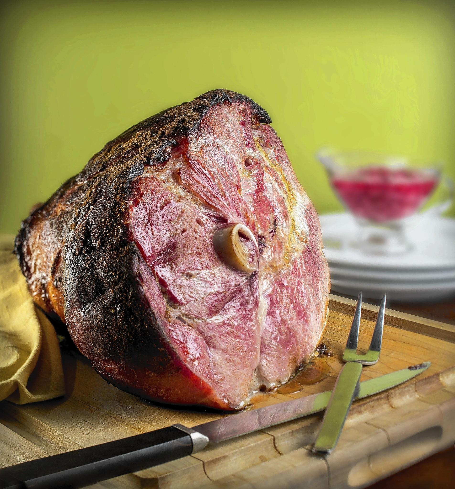 Smoked Easter Ham  Grilling brings smoky goodness to Easter ham
