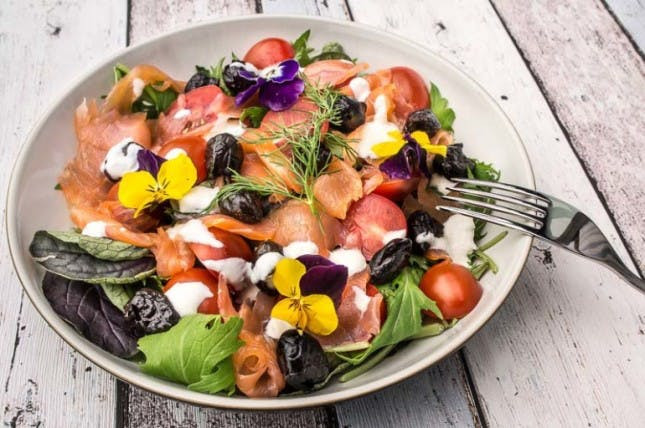 Smoked Salmon Salad Recipes Healthy  Flower Power 30 Edible Flower Recipes